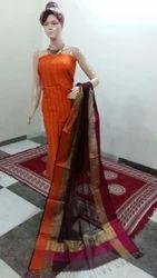 Resham Border Silk Suit Fabric