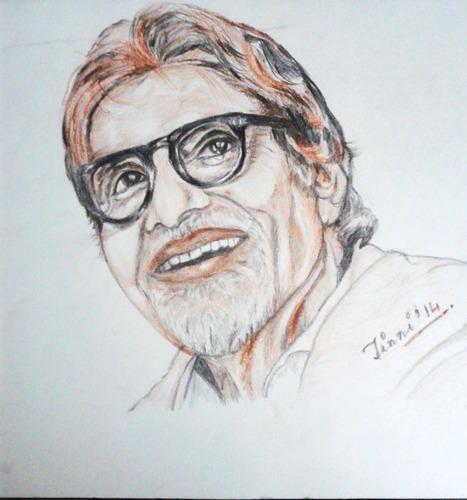 Amitabh bachchan art sketch