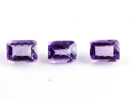 42 Ct. Undrilled 3 Pieces Brilliant Cut Amethyst Cut Stone