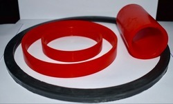 Red and Black Rubber Products