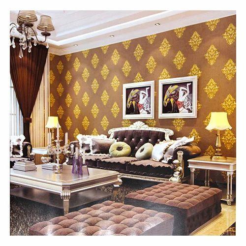 Orange And Gold Floral Wallpaper