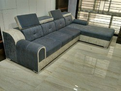 Solid Wood L Shape Sofa