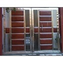 Stainless Steel Wooden Gate