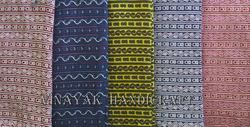 Ikat Design Block Printed Fabric