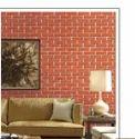 """Brick Design Horizontal 3d Bricks Wallpaper, Size: 21"""" X 10 Mtr = 57 Sqft"""