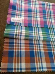 Slub Cotton Checks Shirt Fabric
