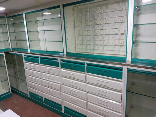 Medical Store Racks & Counters - Pharma Store Cabinets