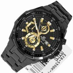 Black Gold Casio Edifice Watches, Model : 539bk