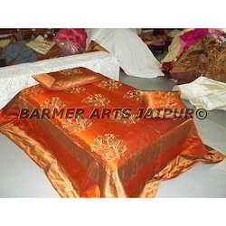 Designer Bed Cover Silk Boota Embroidery
