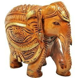 Wooden Elephant Trunk Down Wp008