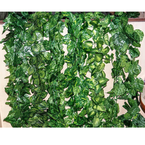 green artificial money plant creeper leaves, rs 125 /piece | id