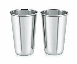 Water Glasses Round Stainless Steel Ice Biding Glass 26 gauge, Material Grade: 202, Capacity: 300 Ml