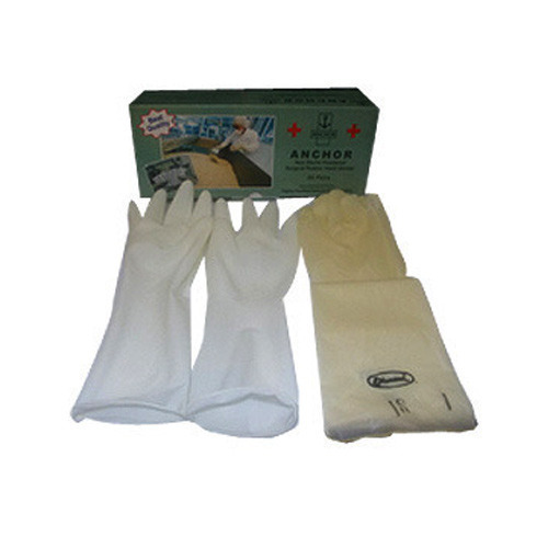 Rubber White Medical Gloves