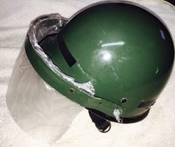 Metallic Green Helmet