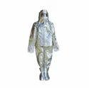 Male Silver Gentex Aluminized Fire Proximity Suit