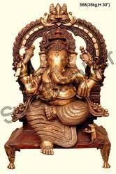 Brass Hindu lord Ganesha statue