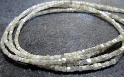 Grey Diamond Box Beads