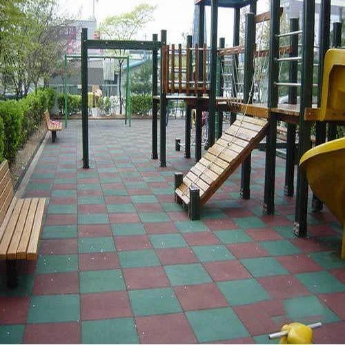 Rubber Flooring Children Play Area Rubber Flooring