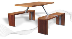 Wooden Cafeteria Chair And Table
