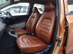 Tan Color Leather Seat Cover