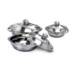 Stainless Steel Serving Bowl With Lids