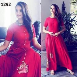 Semi-Stitched Party Wear Designer Dress