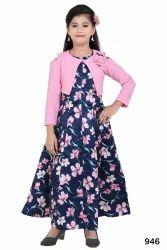 Girls Satin Kids Dress