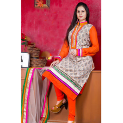 Silk Jacquard Ladies Suit