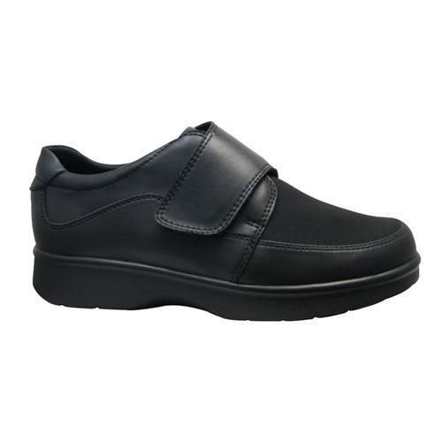 c121ca294444 Black Single Strapped Rubber Diabetic Shoes Size 5 8 Rs 1400