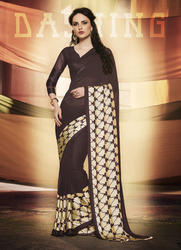 Georgette Satin Printed Saree