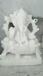 White Marble Ganesha Moorti