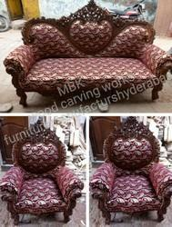 MBK Carving Rustic Sofa Set, Size: Contemporary