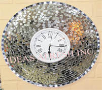 Mosaic Glass Wall Clock
