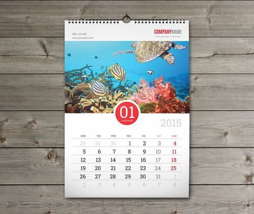 Multi Sheet Wall Calendar Diwar Par Latkane Wale Calendar