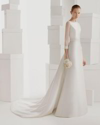 Bridal Dress with Train (A-Line)