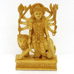 Maa Durga Sitting On Lion Wc071