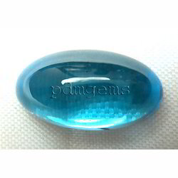 Swiss Blue Topaz Oval Cabochon Gemstone