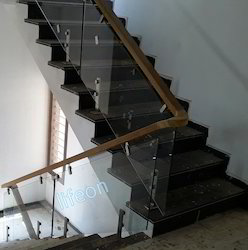 Glass Railing With Wooden