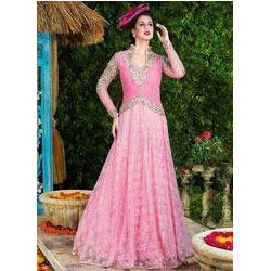 Groovy Pink Net Party Wear Gown at Rs 2715 /piece | Andheri West ...