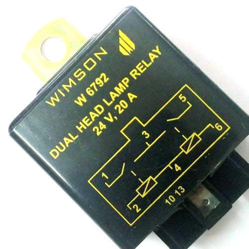 Wimson 24v Dual Head Lamp Relay  For Truck And Buses