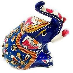 Meenakari Work Elephant Sitting MT016