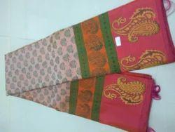 Pure Kanchipuram Silk Saree and Blouse, Length: 6.3 m