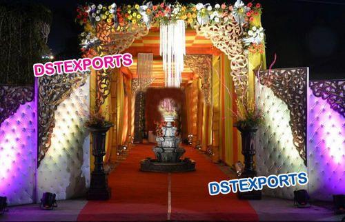 Wedding pin tuck leather gate entrance decoration dst exports wedding pin tuck leather gate entrance decoration junglespirit Images