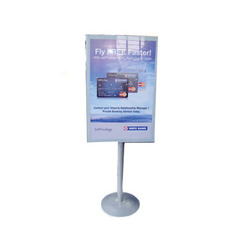 Grey Metal Display Advertising Stand, for Promotional, Warranty: 1 Year