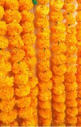 Hyperboles Artificial Garlands (Artificial Maala) Marigold(Pack Of 5)