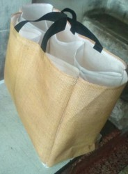 Jute look Multi Pocket Grocery Bag