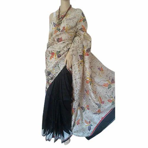 Designer Batik Pure Silk Saree, प्योर सिल्क साड़ी