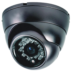 Black IP Dome CCTV Camera for Indoor And Outdoor Use, IR Range: 30 to 35 m