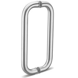Silver Steel Door Pull Handle