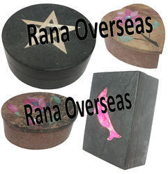 Soapstone Inlay Boxes